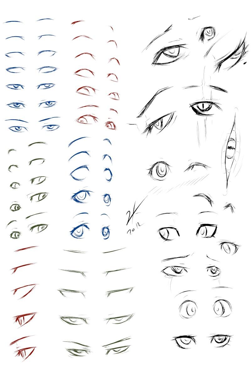 Comment dessiner des yeux de manga for Comment dessiner des conceptions architecturales